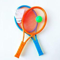 Ракетки для пляжного тенниса + воланчик + мячик (16х35 см, пластик) ZY998 (3546)