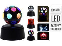 Set proiectoare disco (semnal, oglinda, raze) D9cm, H10cm, plastic