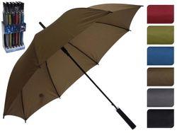 Зонт-трость автомат D114cm, одноцветный, 6цветов