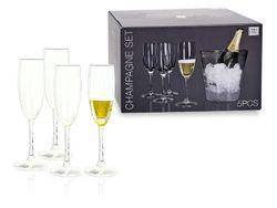 Набор ведро для льда и 4 бокала для шампанского Atmosfera In