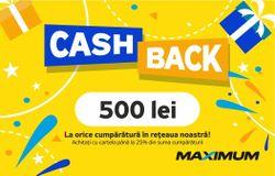 cumpără Certificat - cadou Maximum CashBack 500 în Chișinău