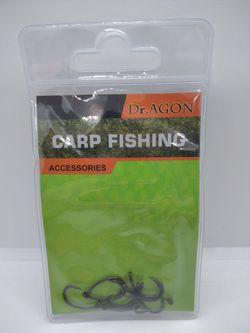 Карповые тефлоновые крючки Dr.Agon Yn Hook N8