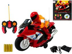 Мотоцикл Р/У с мотоциклистом 28X12X33cm