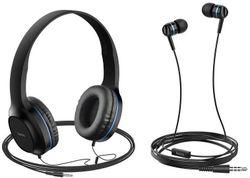 купить Наушники с микрофоном Hoco W24ENHWMBL / W24 Blue в Кишинёве
