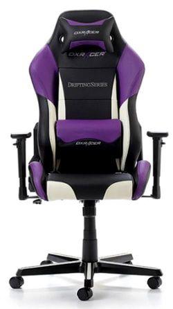 купить Gaming кресло DXRacer Drifting GC-D61-NWV-M3, Black/White/Violet в Кишинёве