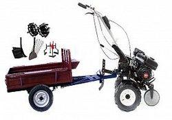 Набор мотоблок TECHNOWORKER HB 700S+Прицеп RK500 + плуг регулируемый + плуг картофель + металлические колеса 4*8 + мотыга