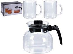 Набор для чая EH (1чайник 1500ml, 2 чашки 400), стекло