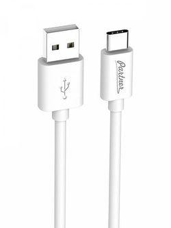 cumpără Cablu telefon mobil Partner 36531 USB 2.0 USB Type-C, 1м, White în Chișinău