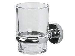Стакан для зубных щеток настенный Atlantic, стекло/хром