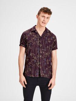 Рубашка JACK&JONES Коричневый с принтом 12136109