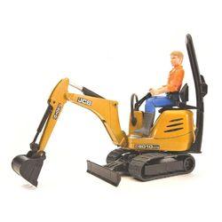 Mini-excavator JCB cu o figură a lucrătorului, cod 42308