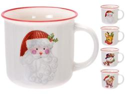 Чашка рождественская 350ml с рисунком, керамика, 4 дизайна