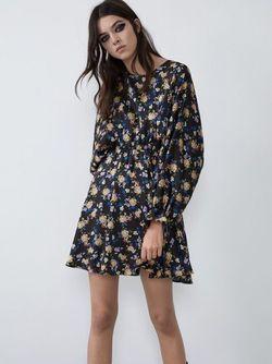 Платье ZARA Черный в цветочек 0003/311/050