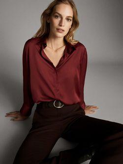 Блуза Massimo Dutti Бордо 5110/690/671