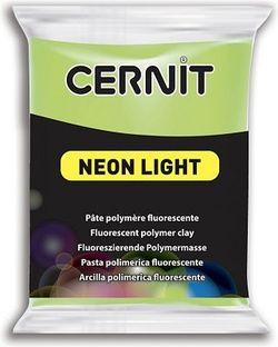 Полимерная глина CERNIT NEON 56г, неоновый зеленый