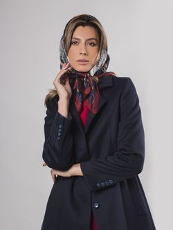 Пальто женское темно-серое
