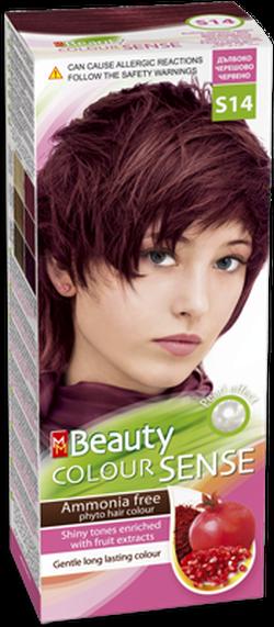 Vopsea p/u păr, SOLVEX MM Beauty Sense, 125 ml., S14 - Rpșu cireașă