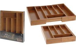 Лоток для столовых приборов EH раздвижной 28-45X33.5cm дерев