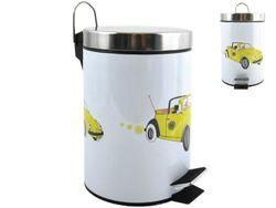 Cos pentru gunoi cu pedala 3l desen Auto, inox