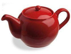 Ceainic pentru infuzie 0.47l din ceramica rosu