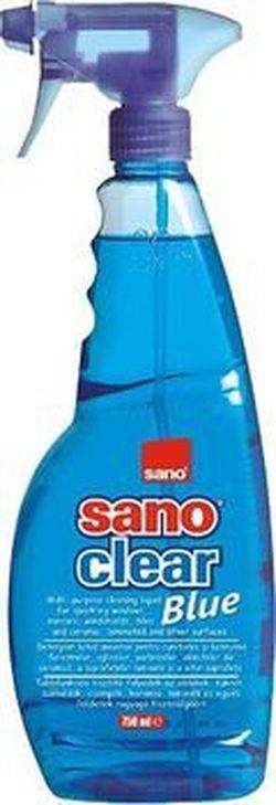 Soluție pentru curățat geamuri, Sano Clear Blue 750 ml