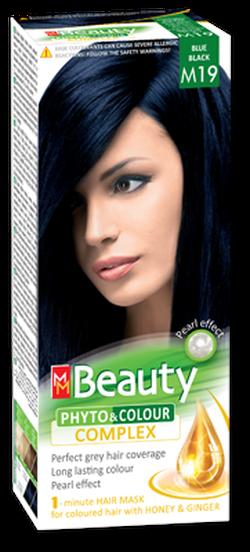 Vopsea p/u păr, SOLVEX MM Beauty, 125 ml., M19 - Negru-albăstrui