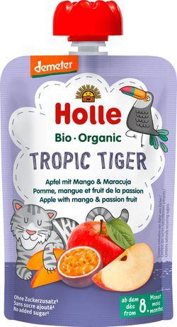 Piure de mere, mango și fructul pasiunii Holle Bio Organic Tropic Tiger (8 luni+), 100g