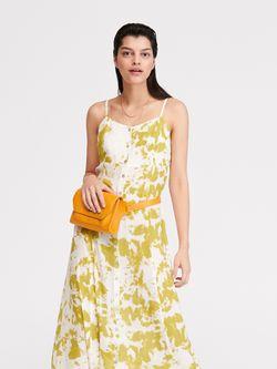 Платье RESERVED Белый с принтом xj509