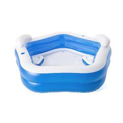 Детский надувной бассейн 213х206х69см с сиденьем, подголовником и подстаканником, 575Л, 6 +