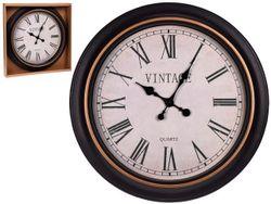 Часы настенные круглые 60cm, H5cm, пластик, темное золото