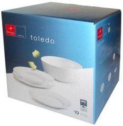 купить Набор посуды Bormioli Rocco 32621 Набор тарелок Toledo 19ед в Кишинёве