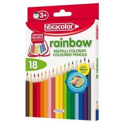 Карандаши цветные Fibracolor Baby Rainbow 18 цветов с точилкой