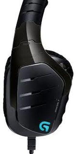 Игровая гарнитура Logitech G635, драйверы 50 мм, 20-20000 Гц, 39 Ом, 93 дБ, RGB, 344 г, 3,5 мм / USB, черный