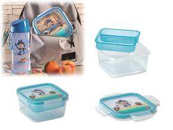Lunch-box cu tava Snips 0.8l, 15X15X7.5cm Pirates