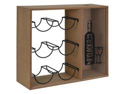 Suport pentru 6 sticle + colector doprilor 40X35X15cm