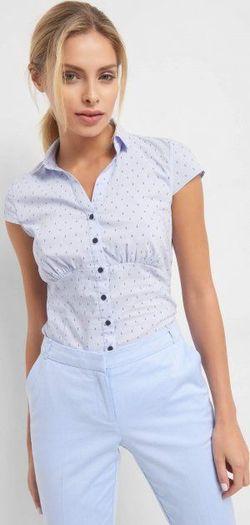 Блуза ORSAY Голубой с принтом