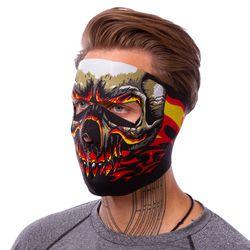 Маска лицевая ветрозащитная MS Red Evil Skull (неопрен, черный) (3836)
