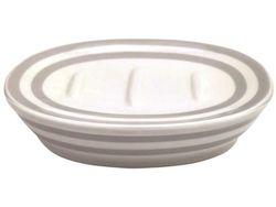 Sapuniera Deauville alb-gri. Ceramica