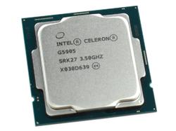 Процессор Intel Celeron G5905 3,5 ГГц (2 ядра / 2 потока, 4 МБ, S1200, 14-нм, интегрированная графика UHD Graphics 610, 58 Вт)