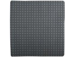 Коврик для душа 54X54cm Quadro Premium серый, резиновый