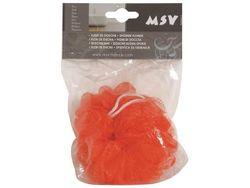 Мочалка для тела шар MSV красная