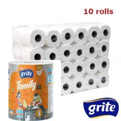 GRITE - Prosop de bucatarie 2str Family XL, 1 rola, 45m 10/10
