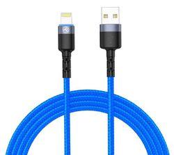 купить Кабель для моб. устройства Tellur TLL155364 Cable USB - Lightning, cu LED, 3A, 1.2m, Blue в Кишинёве