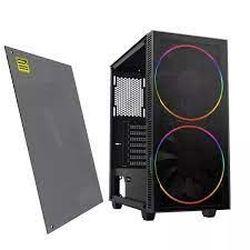 Корпус ATX GAMEMAX Black Hole, без блока питания, 2x200-мм вентиляторы ARGB, ШИМ-концентратор, прозрачная панель, USB3.0, черный