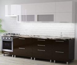 Bucătărie Bafimob Blum (High Gloss) 2.8m White/Brown