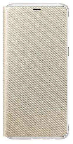 купить Чехол для моб.устройства Samsung EF-FA730, Galaxy A8+ 2018, Neon Flip Cover, Gold в Кишинёве