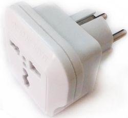 купить Адаптер электрический Viko 48916 Переходник с US/UK/AU на EU 10A, две розетки, белый (1238) в Кишинёве