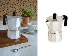 Кофеварка на 3 чашки Pinti Capri, аллюминий