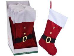 Сапог новогодний для подарков с пряжкой 46сm, текстиль
