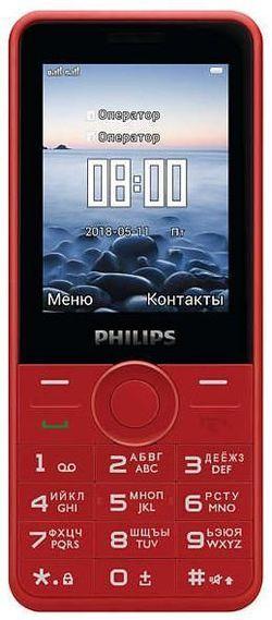 купить Телефон мобильный Philips E169 Red в Кишинёве